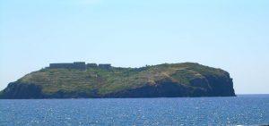 Vista laterale Ventotene